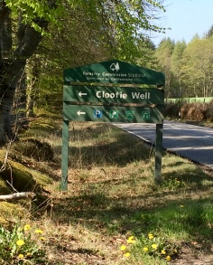 Signpost for the Clootie Well