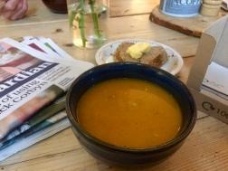 Lovely red lentil soup