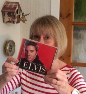 The author with her first CD
