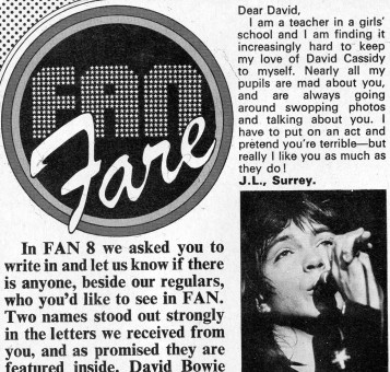 FAN magazine letters page - Not sure how authentic they were