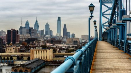 The Philadelphia skyline