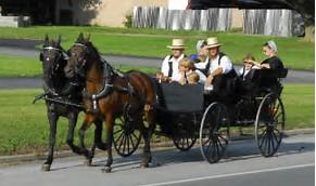 A buggy carrying Pennsylvania Dutch