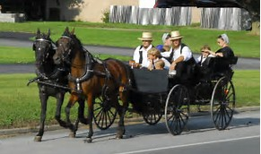 A buggy carrying Pennsylvania Dutch