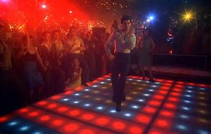 The flashing dance floor from Saturday Night Fever