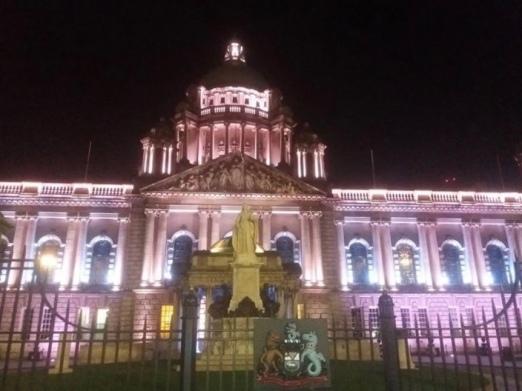 Belfast City Hall at night