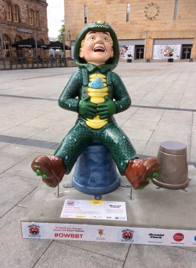 Wullie in the centre of town