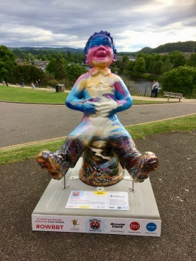 Wullie up at the Castle overlooking the river