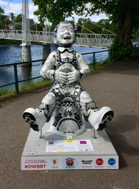Wullie down at The Islands