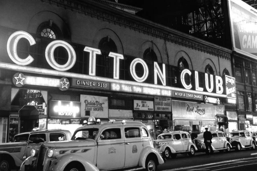 taxis-outside-cotton-club